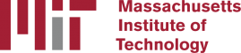 MIT Logo with the letters MIT in grey and red on the left and the words Massachusetts Institute of Technology written out to the right of that.